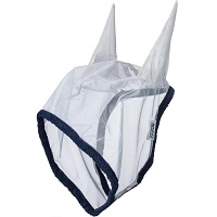 Horseware Amigo Fine Mesh Fly Mask with ears Zilver Pony