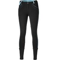 P3-Wear Rijbroek Dames Zwart&Aqua