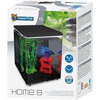 Superfish Home Aquarium - 20.5x20.5x25.7 cm - 8L - Zwart