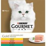 6. Gourmet Gold Mousse - Kip, Zalm, Niertjes & Konijn - 48 x 85 g
