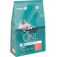 Purina ONE Adult - Kattenvoer Zalm & Volkoren Granen - 3 kg
