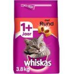 3. Whiskas 1+ Adult Droge Brokjes - Rund