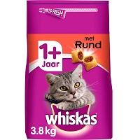 Whiskas 1+ Adult Droge Brokjes - Rund - Kattenvoer