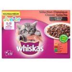7. Whiskas Junior Kitten Maaltijdzakjes - Vleesselectie in Saus