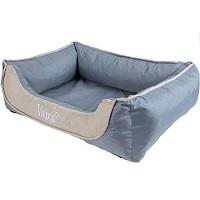 Nap'zzz divan waterproof duo grijs beige, 120x90 cm.