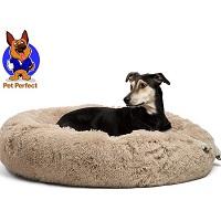 PetPerfect Donut Hondenmand - Zacht Pluche Hondenmanden